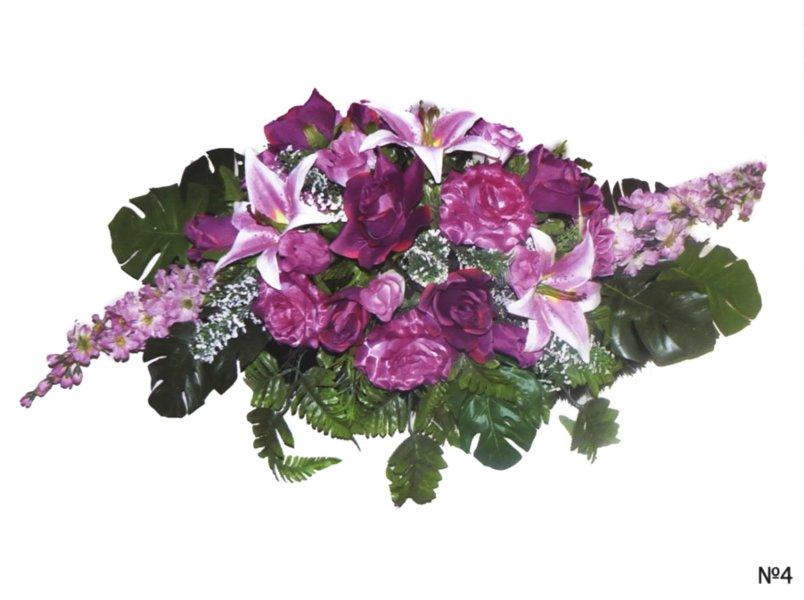 Композиции из искусственных цветов на могилу 177